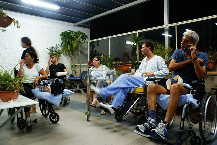 group of people in their wheelchairs