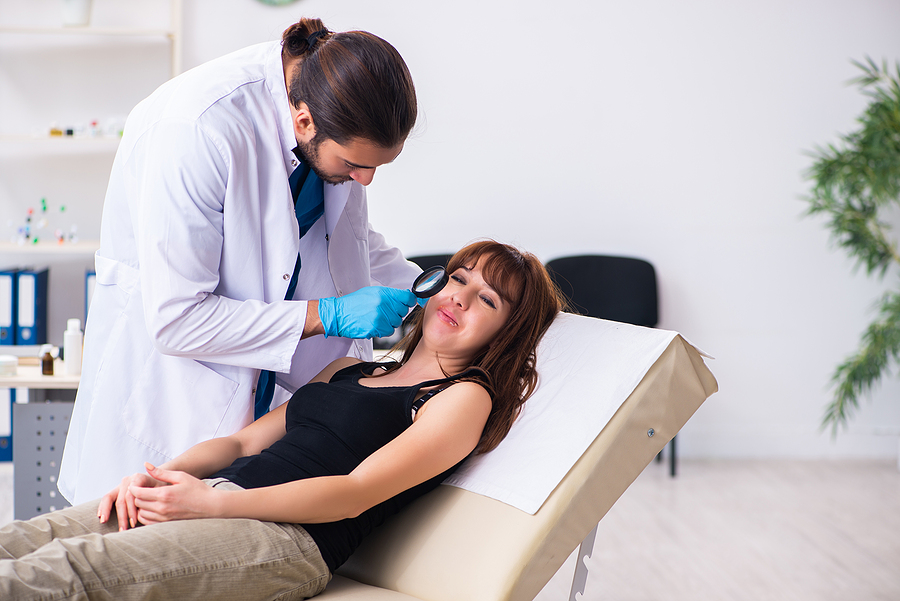 Young woman visiting a cosmetic dermatology Melbourne clinic