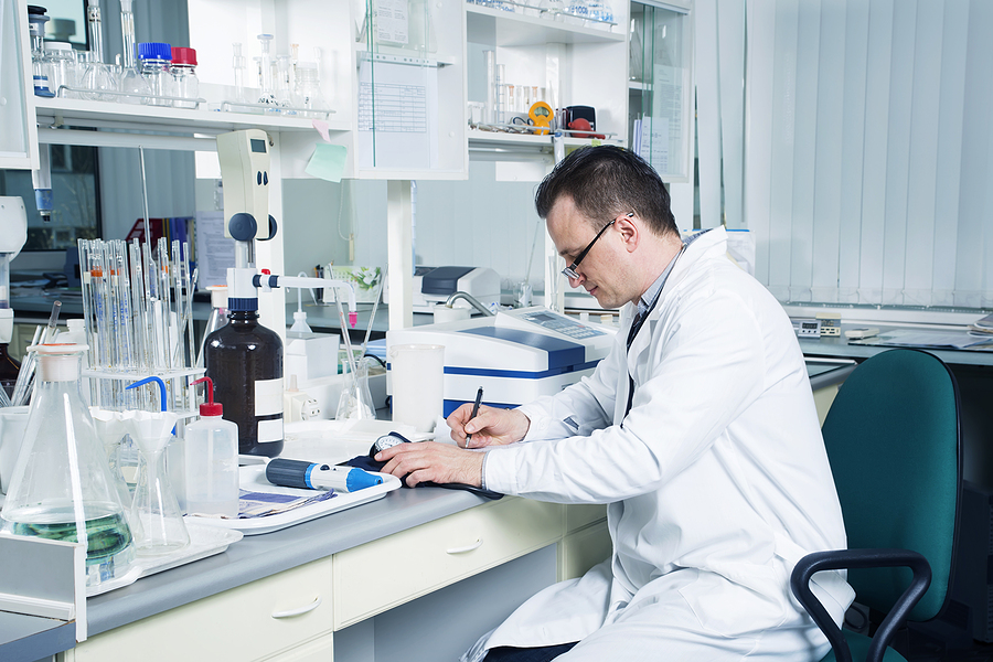 Scientist inside a compounding pharmacy in Melbourne