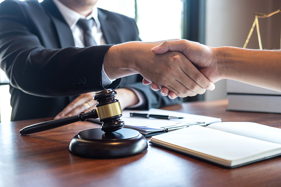 Client handshaking with a family lawyer in Sydney
