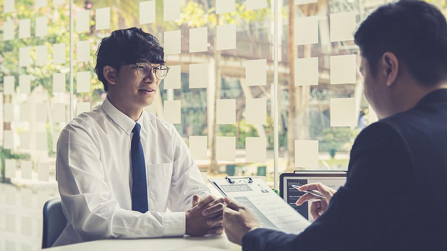 Man taking part in paid HR internships